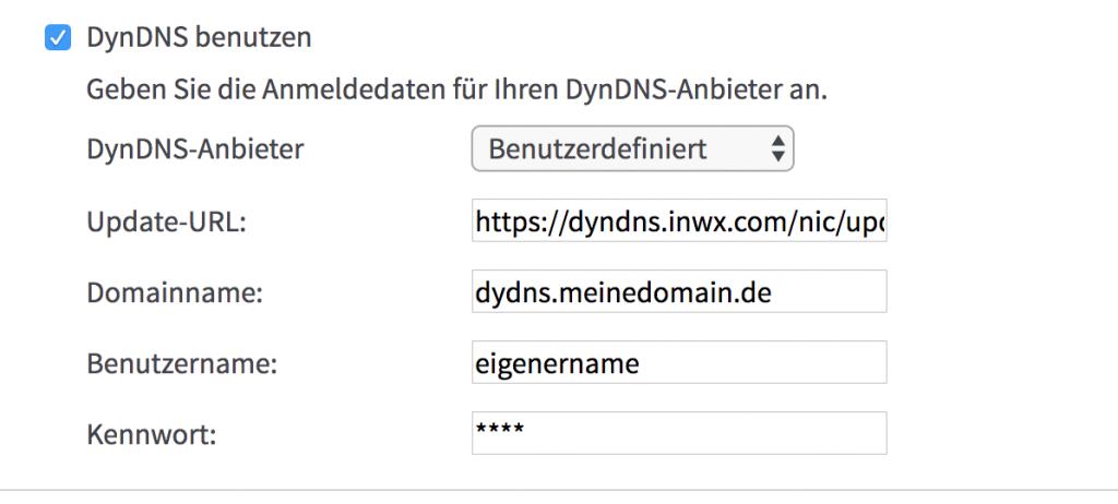 Fritzbox DynDNS