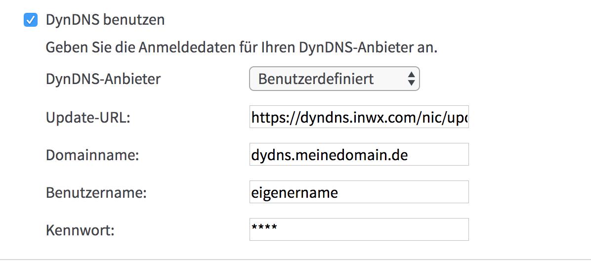 kostenloses DynDNS mit inwx und FritzBox – slacc